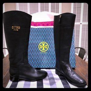 Tory Burch Joanna Riding Boot Black 8.5